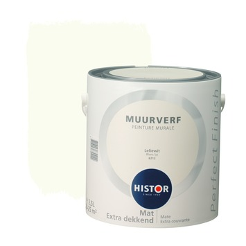 Histor Perfect Finish muurverf mat leliewit 2,5 l