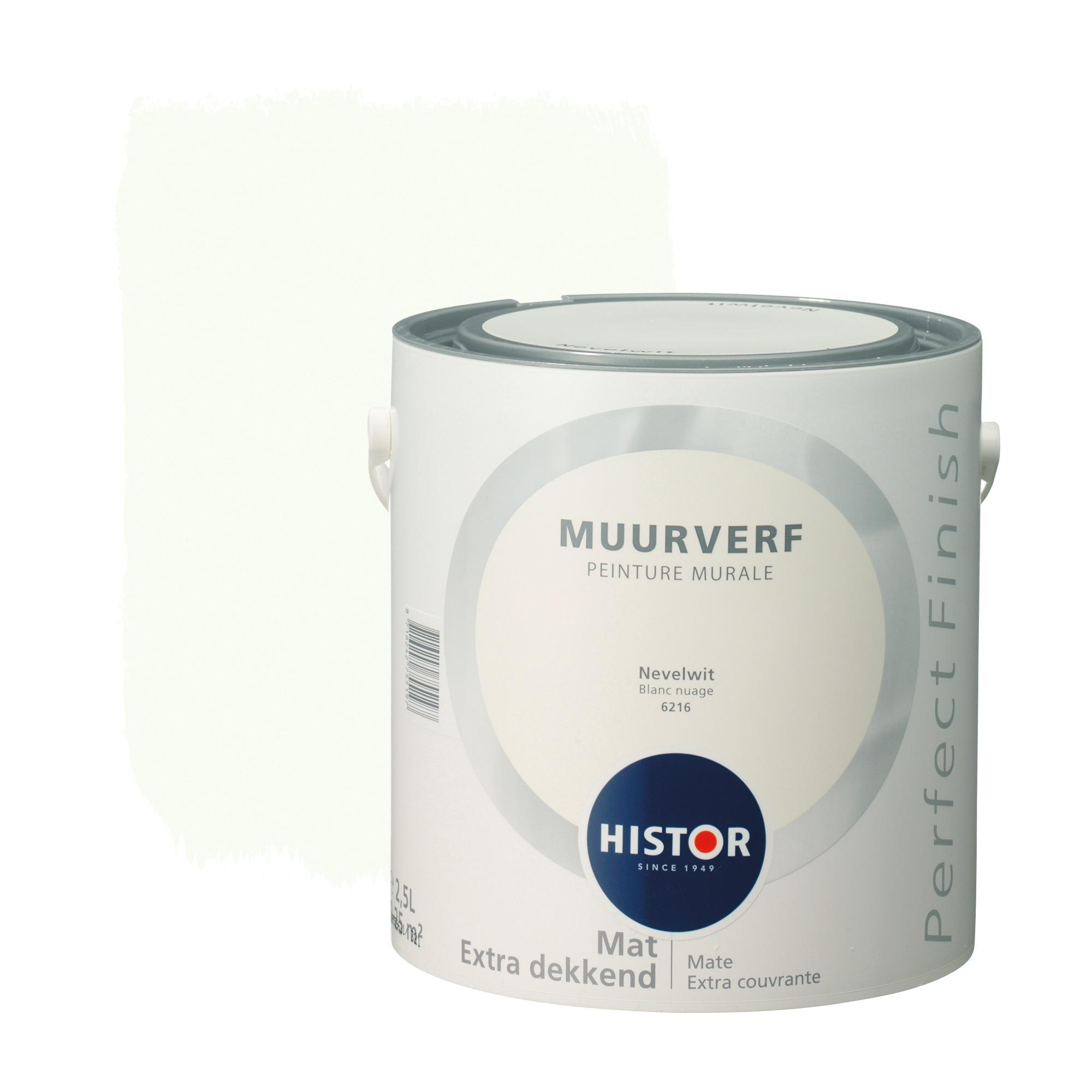Histor perfect finish muurverf mat nevelwit 6216 2,5 l