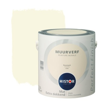 Histor Perfect Finish muurverf mat roomwit 2,5 l