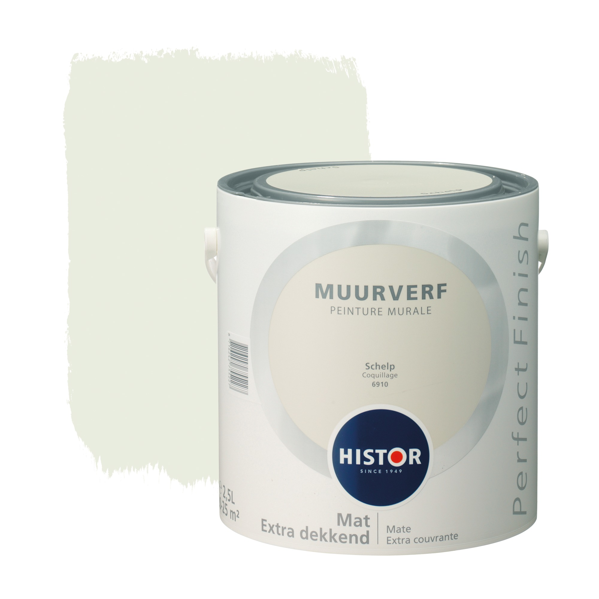 Histor perfect finish muurverf mat schelp 6910 2,5 l