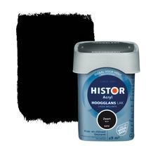 Histor Perfect Finish lak waterbasis hoogglans zwart 750 ml