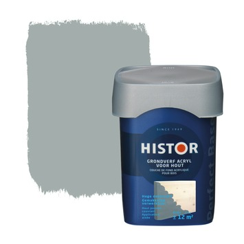 Histor Perfect Base grondverf acryl hout grijs 750 ml