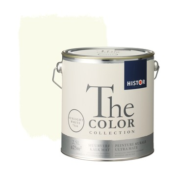 Histor The Color Collection muurverf sunlight white 2,5 liter