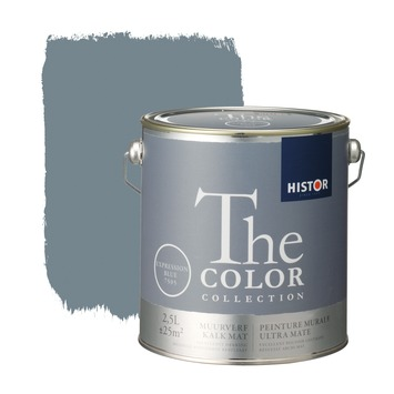 Histor The Color Collection muurverf expression blue 2,5 liter
