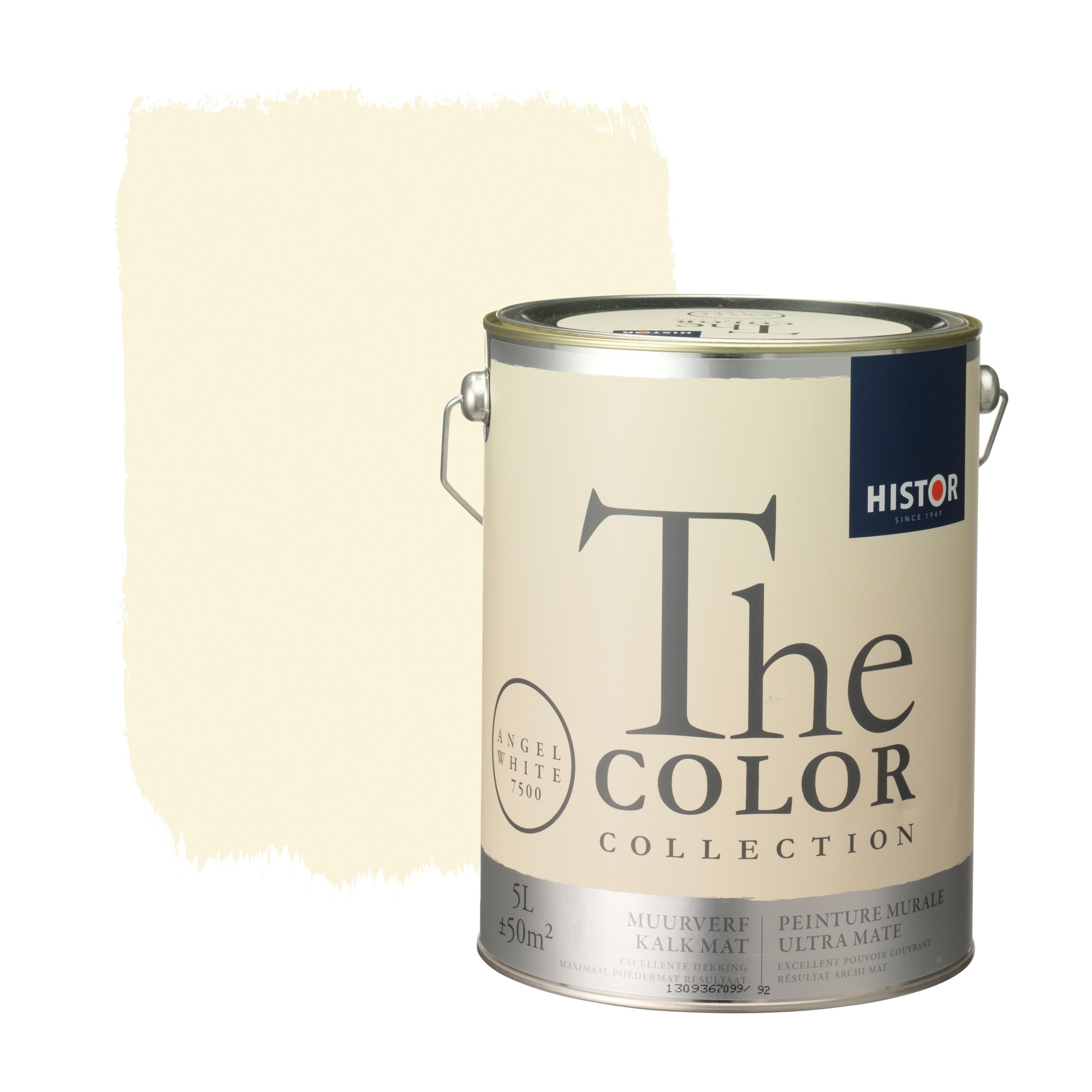 Histor the color collection muurverf kalkmat angel white 7500 5 l