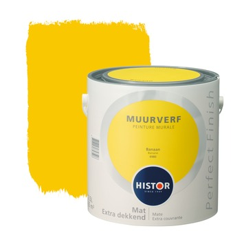 Histor Perfect Finish muurverf mat banaan 2,5 l