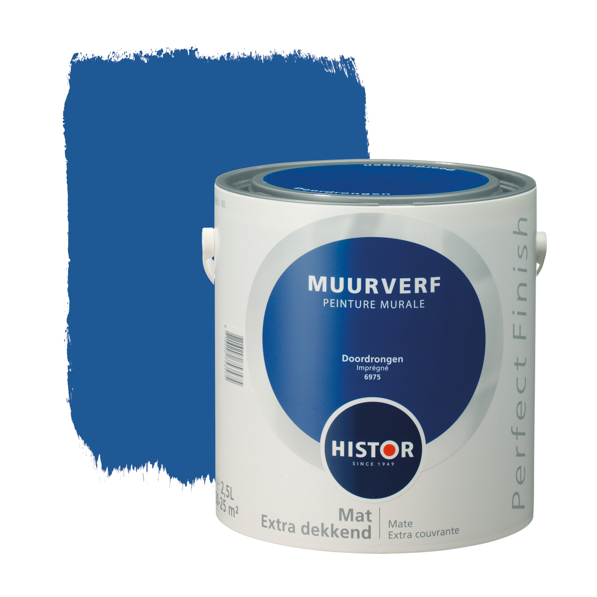 Histor perfect finish muurverf mat doordrongen 6975 2,5 l