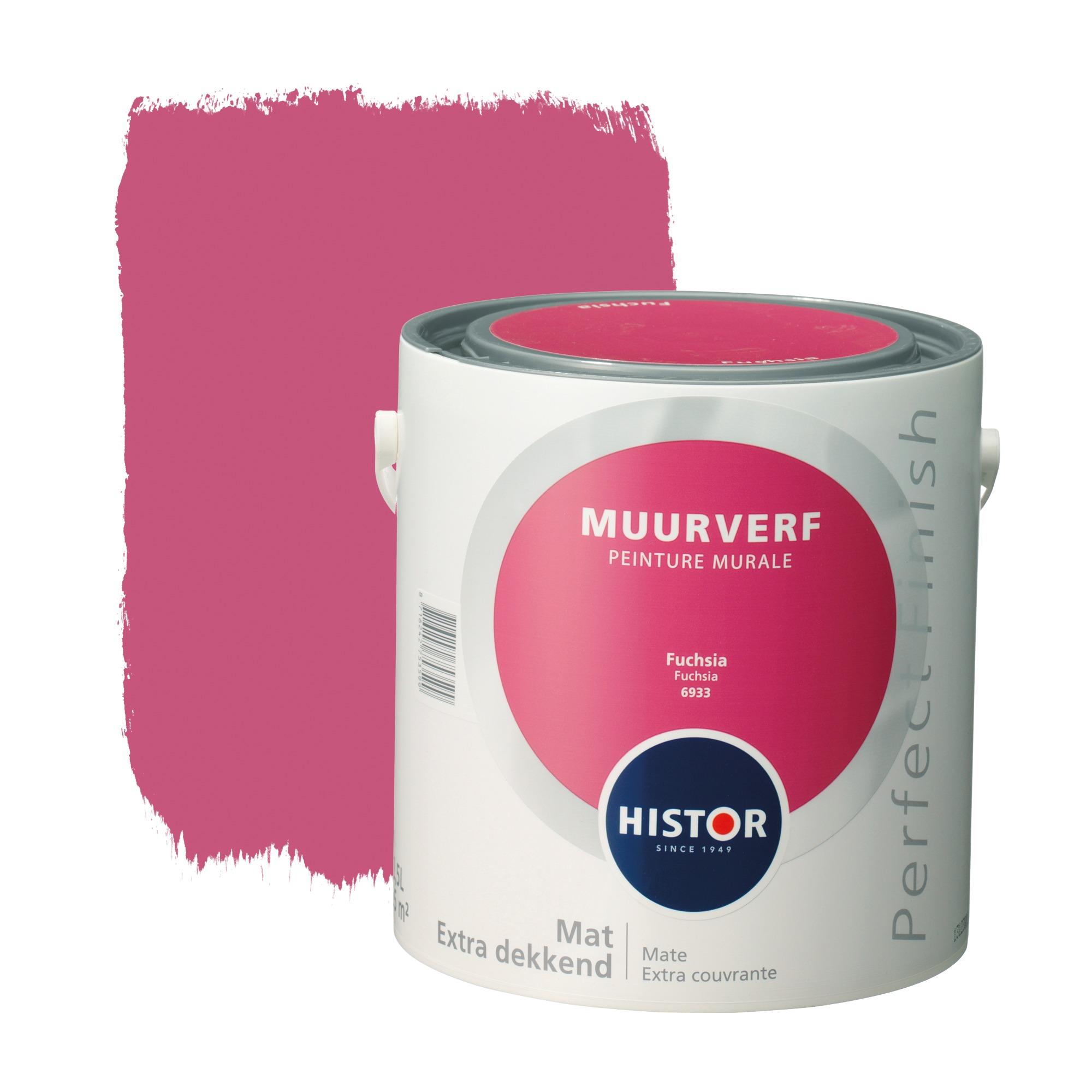 Histor perfect finish muurverf mat fuchsia 6933 2,5 l