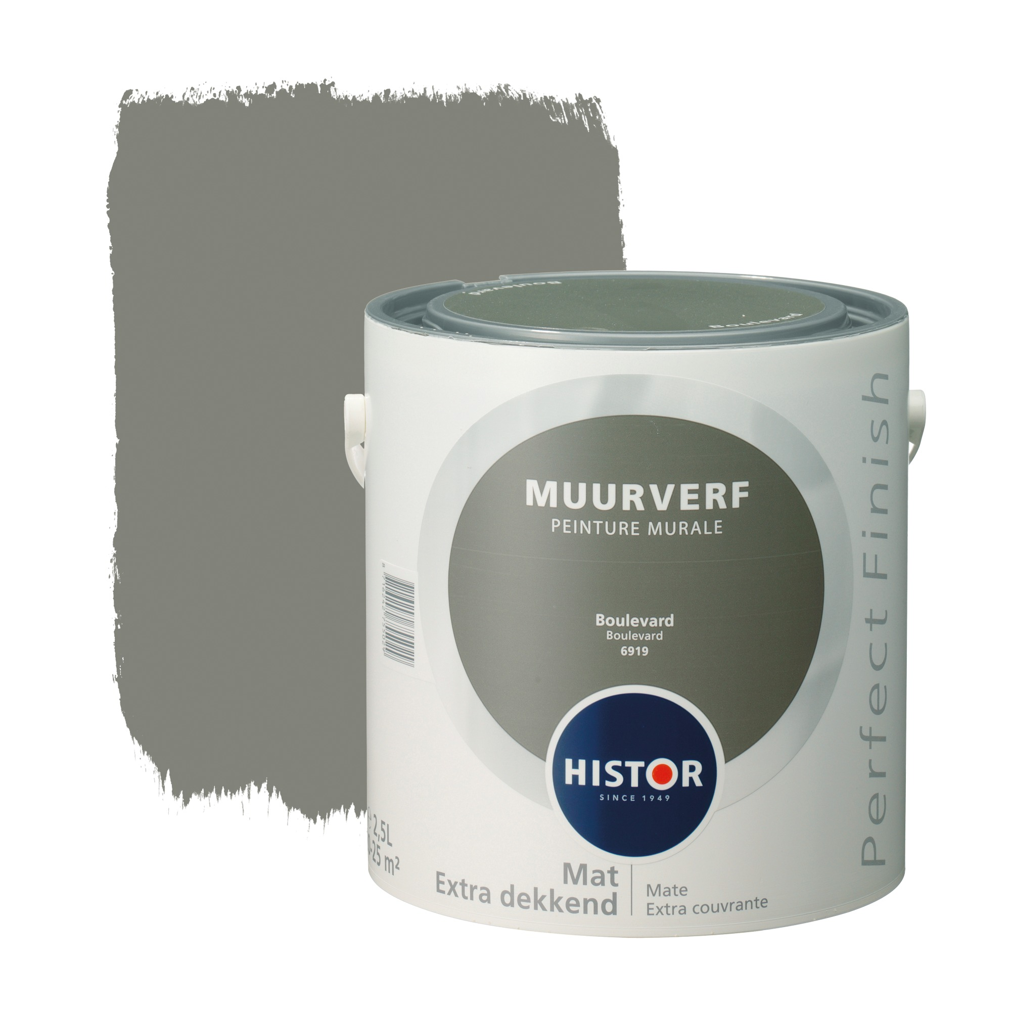 Histor perfect finish muurverf mat boulevard 6919 2,5 l