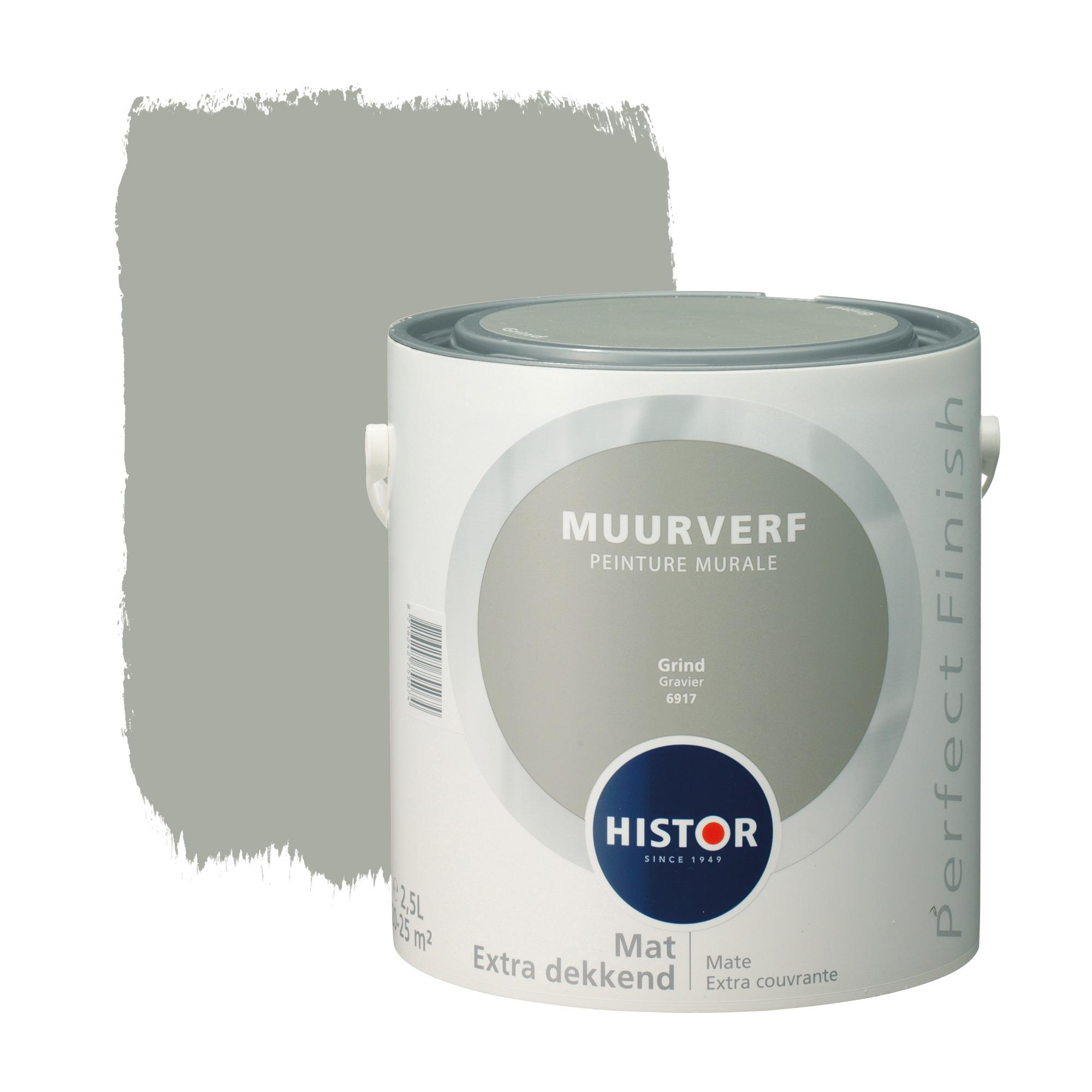 Histor perfect finish muurverf mat grind 6917 2,5 l