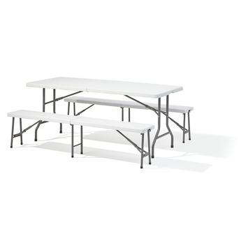 Wit Kunststof Bankje.Picknick Tafel Wit Kunststof 180 Cm Kopen Karwei