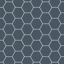 Vliesbehang honingraat blauw (dessin 101671)