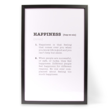 Print in frame - Happiness 40x60 cm