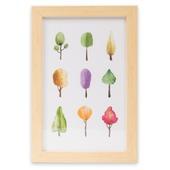 Print in frame - Aquarel Trees 20x30 cm
