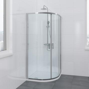 Bruynzeel Omni douchecabine kwartrond 90x195cm chroom