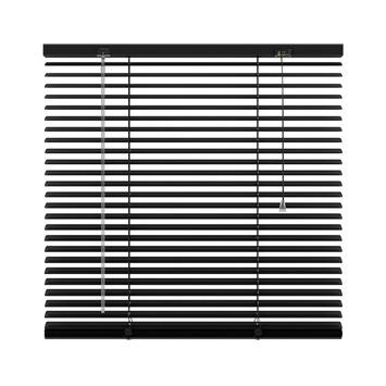 KARWEI horizontale aluminium jaloezie 25 mm zwart (203) 100 x 180 cm (bxh)