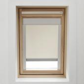 KARWEI dakraamrolgordijn ecru (7001) 134 x 98 cm
