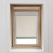 KARWEI dakraamrolgordijn ecru (7001) 134 x 140 cm