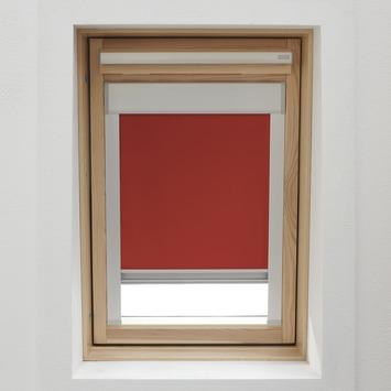 KARWEI dakraamrolgordijn rood (7002) 134 x 140 cm