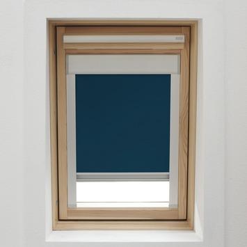 KARWEI dakraamrolgordijn donkerblauw (7003) 94 x 160 cm
