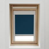 KARWEI dakraamrolgordijn donkerblauw (7003) 134 x 140 cm