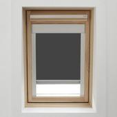 KARWEI dakraamrolgordijn grijs  (7004) 114 x 118 cm