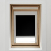 KARWEI dakraamrolgordijn zwart (7005) 78 x 140 cm