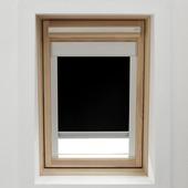 KARWEI dakraamrolgordijn zwart (7005) 114 x 118 cm