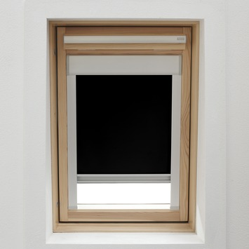 KARWEI dakraamrolgordijn zwart (7005) 134 x 98 cm
