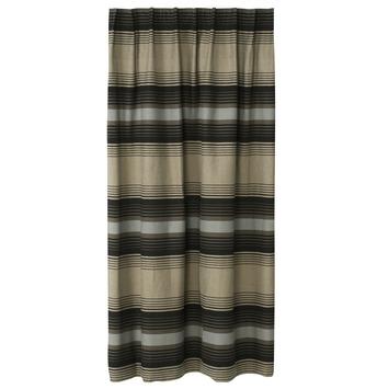 karwei kant en klaar gordijn 140x280 cm 1044 streep grijs met zwart