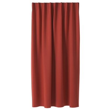 karwei kant en klaar gordijn rood 1026 140 x 280 cm