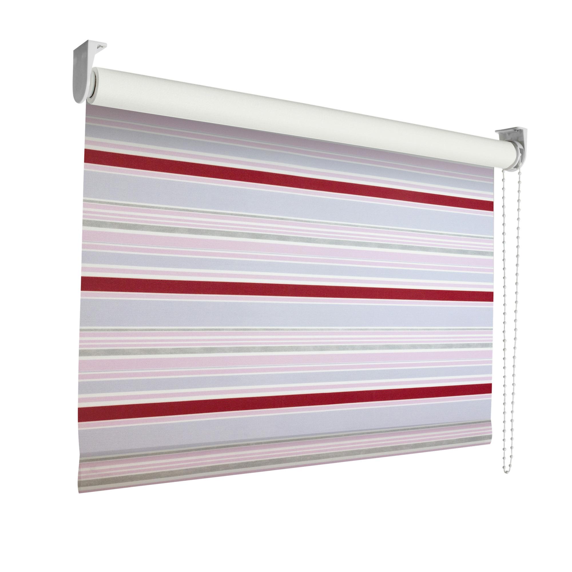 KARWEI rolgordijn verduisterend 60×190 cm 3596 streep grijs roze rood   Rolgordijnen