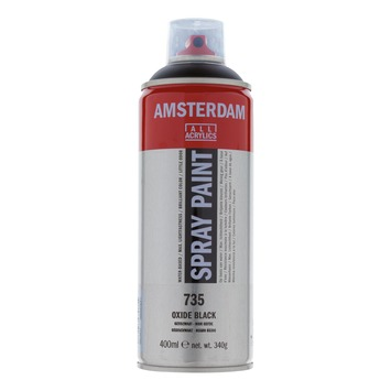 Amsterdam verf acrylverfspray oxydzwart 400ml