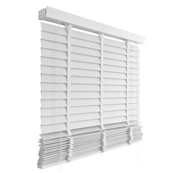 le noir blanc horizontale jaloezie hout 942 wit 100x180. Black Bedroom Furniture Sets. Home Design Ideas