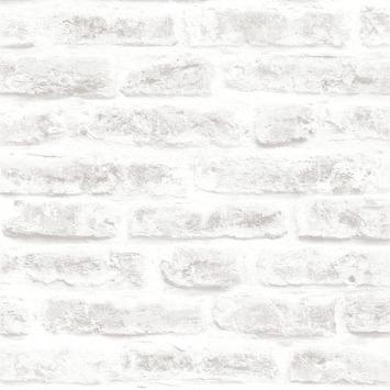 Vliesbehang stenen wit (dessin 101801)