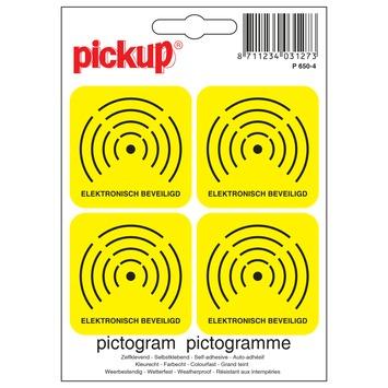 Pickup pictrogram elektronisch beveiligd 10x10 cm