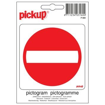 Pickup pictogram verboden toegang 10x10 cm