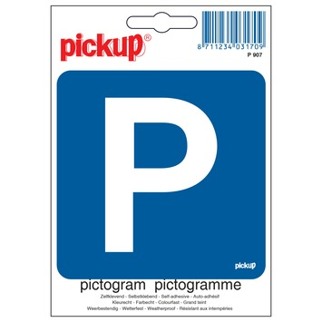 Pickup pictogram parkeren 10x10 cm