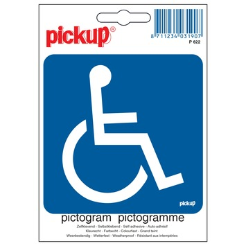Pickup pictogram rolstoel toegankelijk 10x10 cm