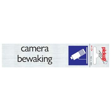 Pickup Alu deurbordje camera bewaking 165x44 mm