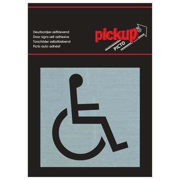 Pickup sticker rolstoeltoegankelijk 8x8 cm