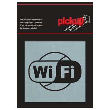 Pickup Alu Picto wifi 8x8 cm