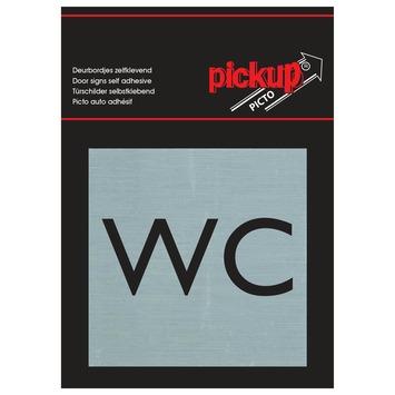 Pickup Alu Picto WC 8x8 cm