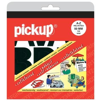 Pickup plakletters A-Z Helvetica zwart 50 mm