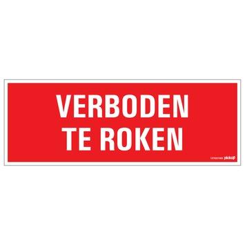 Pickup bord verboden te roken 33x12 cm