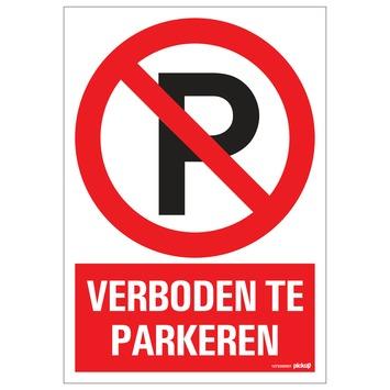 Pickup bord verboden te parkeren 23x33 cm