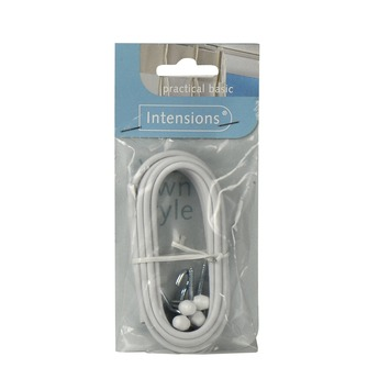 Spandraad spiraal wit set kabel 250 cm kopen? gordijnroedes | KARWEI