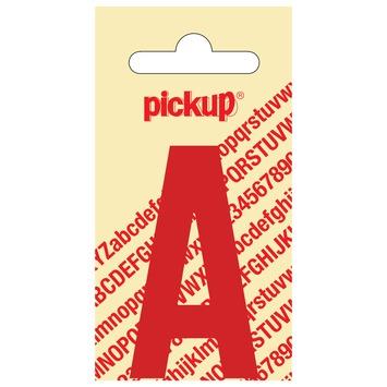 Pickup plakletter A rood glans 60 mm