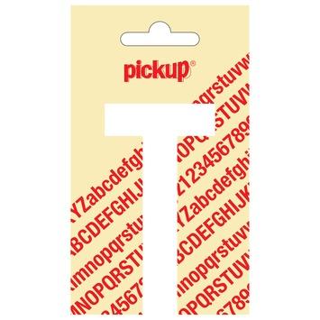 Pickup plakletter T wit mat 90 mm