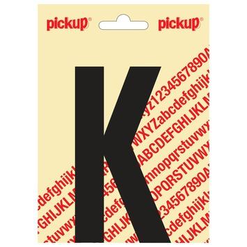 Pickup plakletter K zwart mat 120 mm
